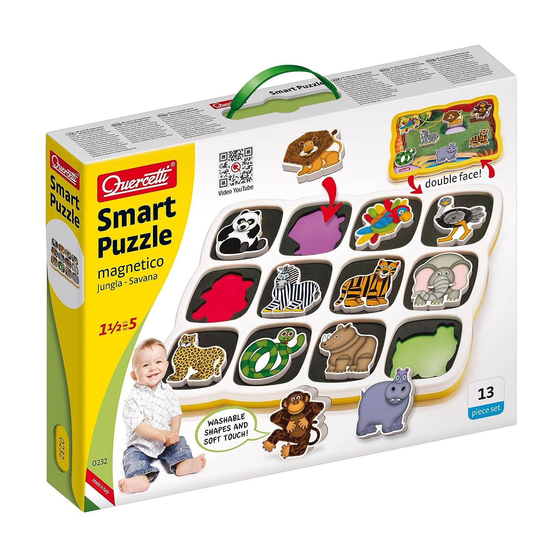 Quercetti 0232 Smart Puzzle Jungle & Savana Prima Infanzia Quercetti & C. S.p.A. 002322 232_
