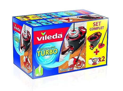 28 opinioni per Vileda Easy Wring/Clean Turbo Set mocio con secchio