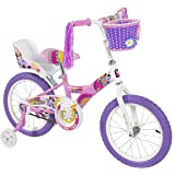 "BCP 16"" Girl's Flower Princess Bike W/ Training Wheels & Basket Kid's Bicycles"