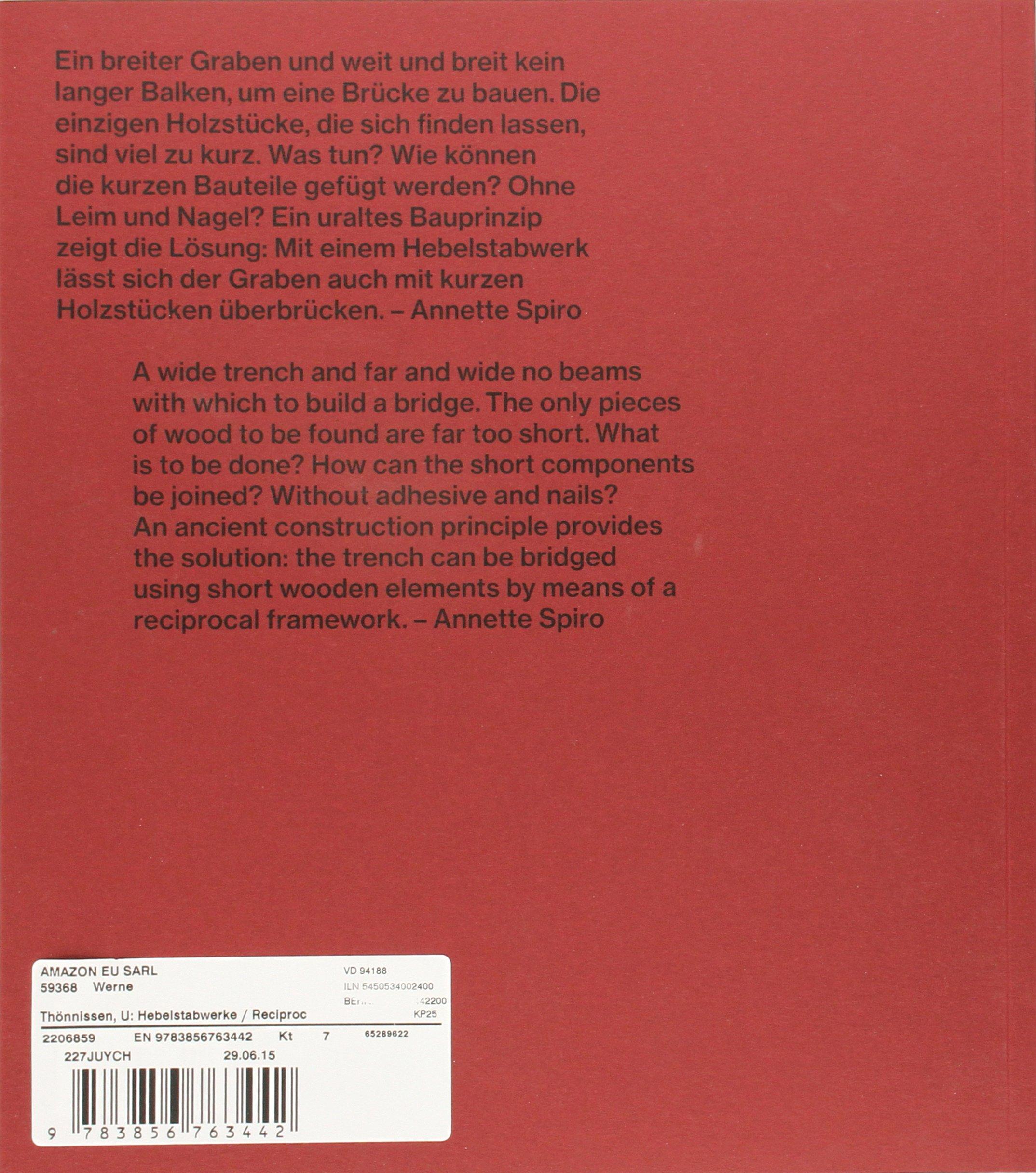 Hebelstabwerke / Reciprocal Frameworks: Tradition and Innovation ...