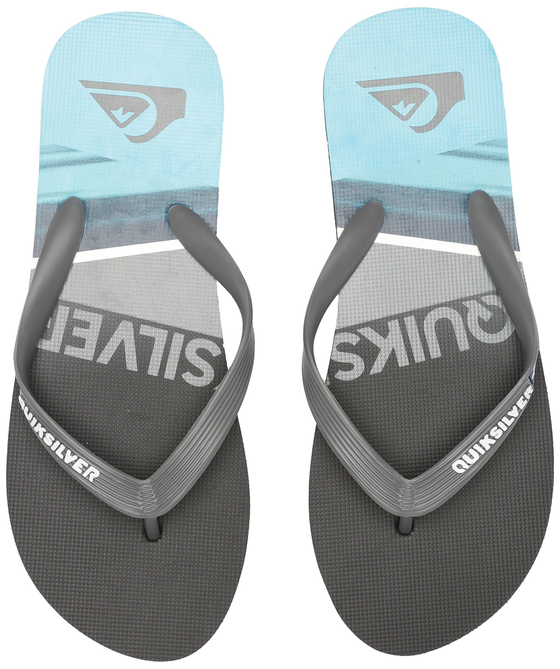 Quiksilver Men's Molokai Slash Sandal, Black/Grey/Blue, 6 D US by Quiksilver (Image #6)