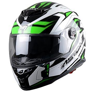 Astone Helmets Futura Casco Integral, Negro/Verde, S