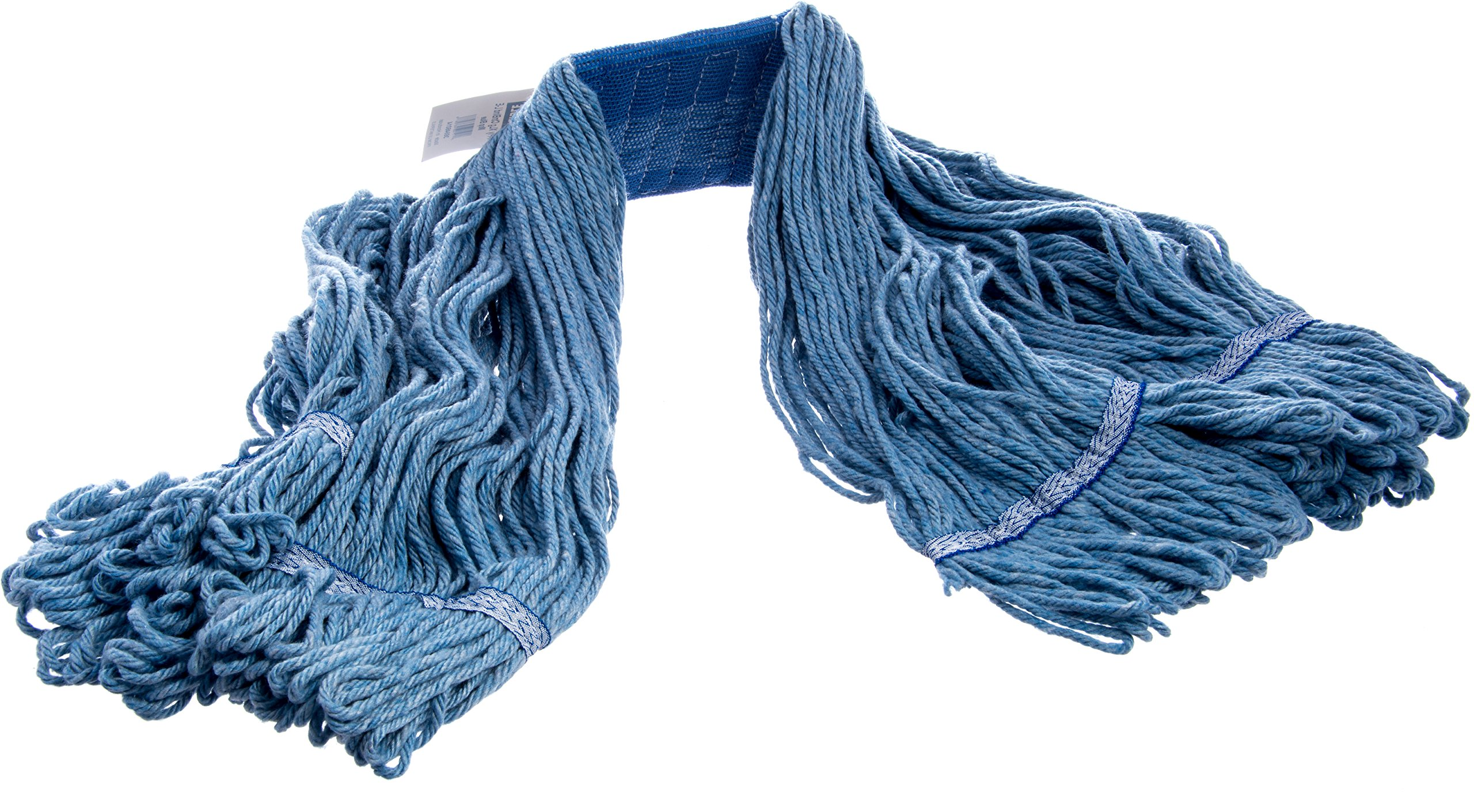 Carlisle 36946014 Looped-End Premium Mop Head With Blue Band, X-Large, Blue by Carlisle (Image #3)