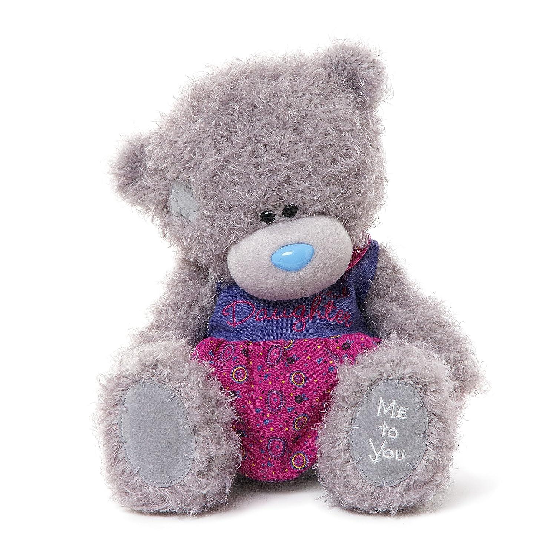 Me to You 9-inch Tatty Teddy Bear Wearing a Wonderful Daughter Dress Sits (Grau)