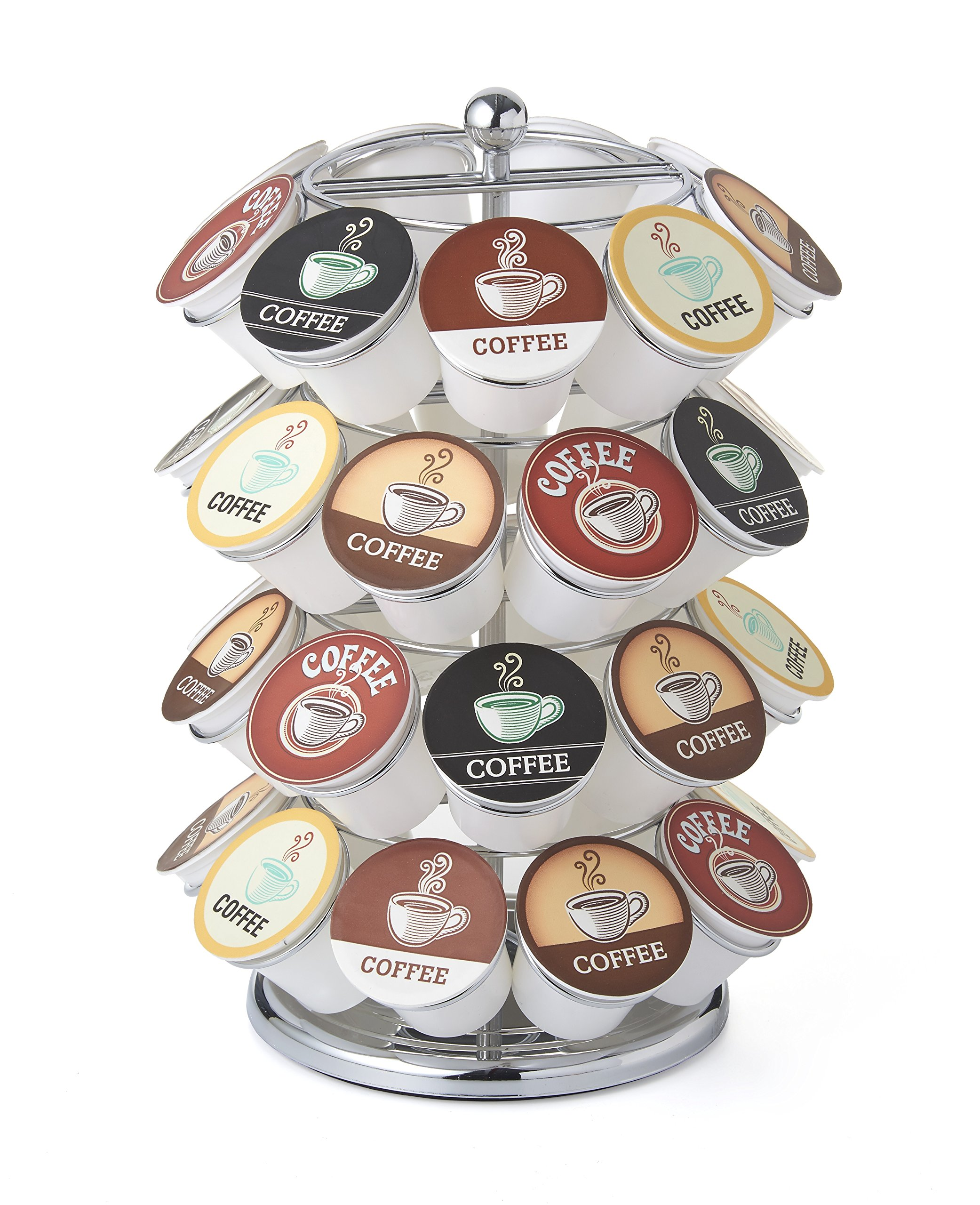 NIFTY 5636C 36 Capacity Chrome K-Cup Carousel, 1 size, by NIFTY