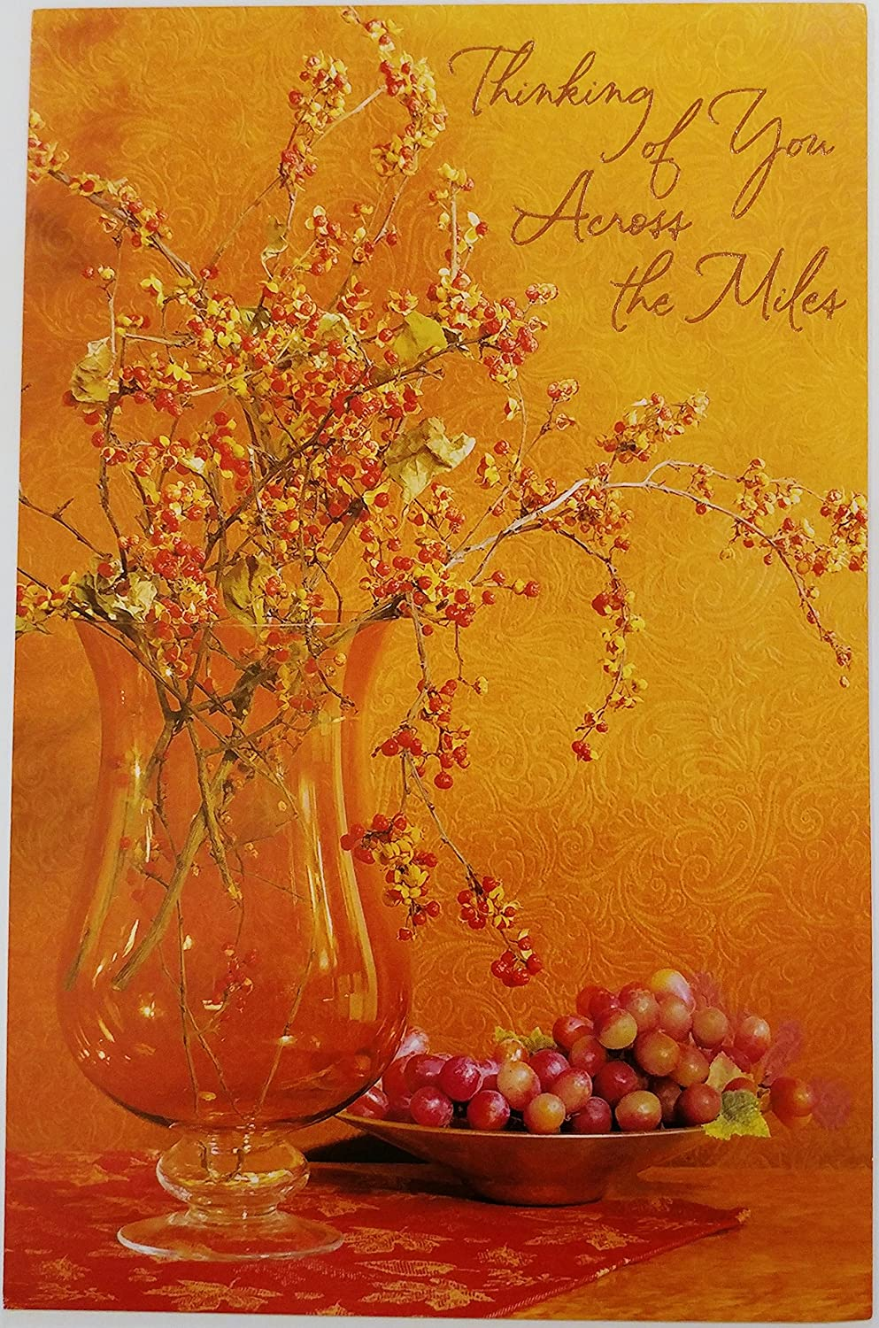 Thinking Of You Across The Miles Happy Thanksgiving Greeting Card Even Though We Can T Spend Thanksgiving Together Miss You Amazon Ca Office Products