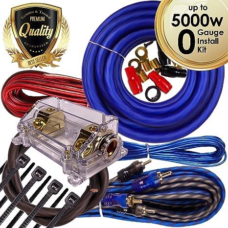 amazon com complete 5000w gravity 0 gauge amplifier installation rh amazon com car amp wiring kit argos best car amp wiring kit