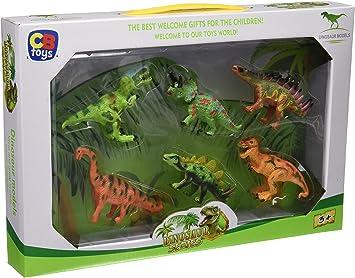 Color Baby - Caja con 6 Dinosaurios, 33 X 23 cm (42679): Amazon.es ...
