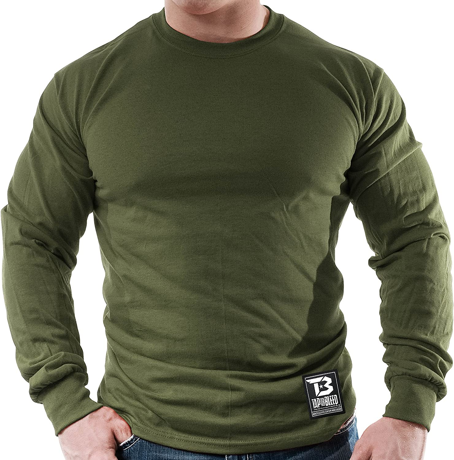 Monsta Clothing Co Tap or Bleed Classic-000 Fitness Gym LNGSLV Mens MMA Fight