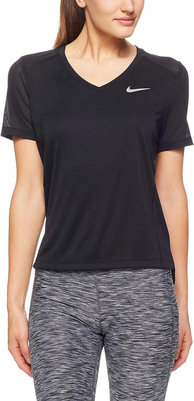 Nike Sec Miler Haut Bleu Clair Femmes Course Sport T Shirt