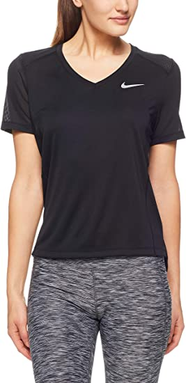 Nike Haut de Running À Manches Courtes Miler T Shirt Femme