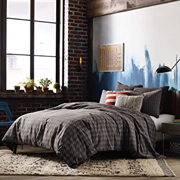 kyle schuneman stellan grey masculine twin xl comforter set