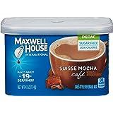Maxwell House 国际咖啡馆 无糖瑞士摩卡咖啡,不含咖啡因,4盒装