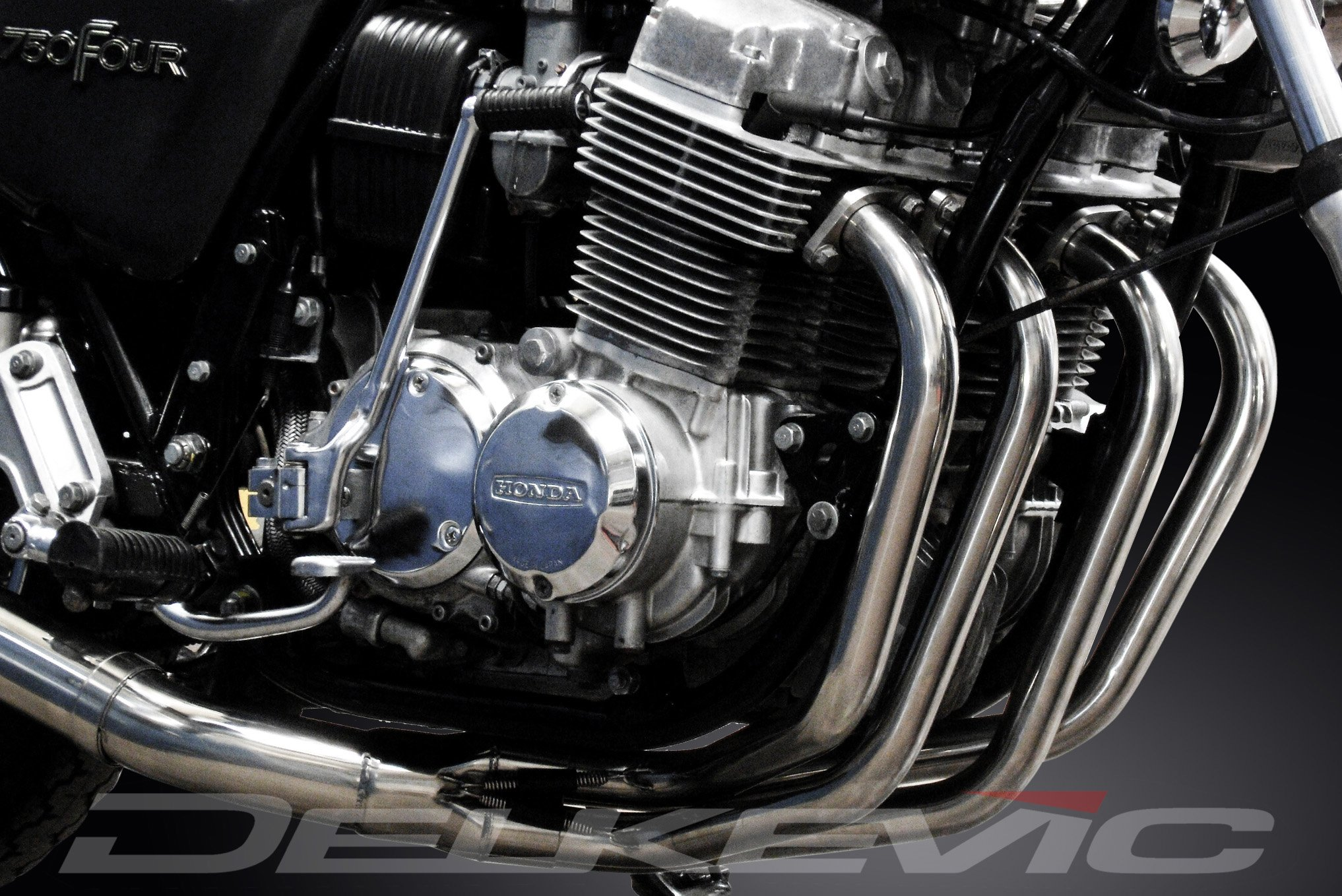 Honda CB750F Super Sport 4-1 Manifold Header Exhaust Stainless Steel Downpipes 75 76 by Delkevic