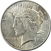 1928 S $1 Peace Silver Dollar US Coin AU About Uncirculated