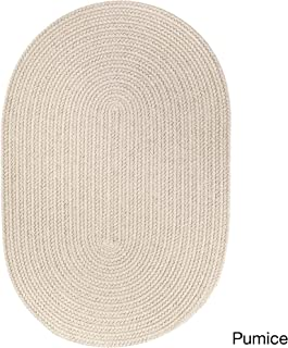product image for Rhody Rug Venice Indoor/Outdoor Oval Braided Rug (2' x 3') Pumice