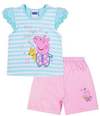 3977a172f Girls Peppa Pig Good Night Teddy Peppa Short Pyjamas (18-24 Months): Amazon. co.uk: Clothing