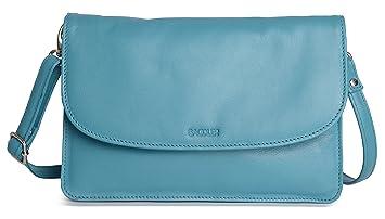 Fächer Olivia Saddler Handtasche 3 Blau Nappaleder Clutch Blaugrünes Weiches 4Lc5ARqS3j