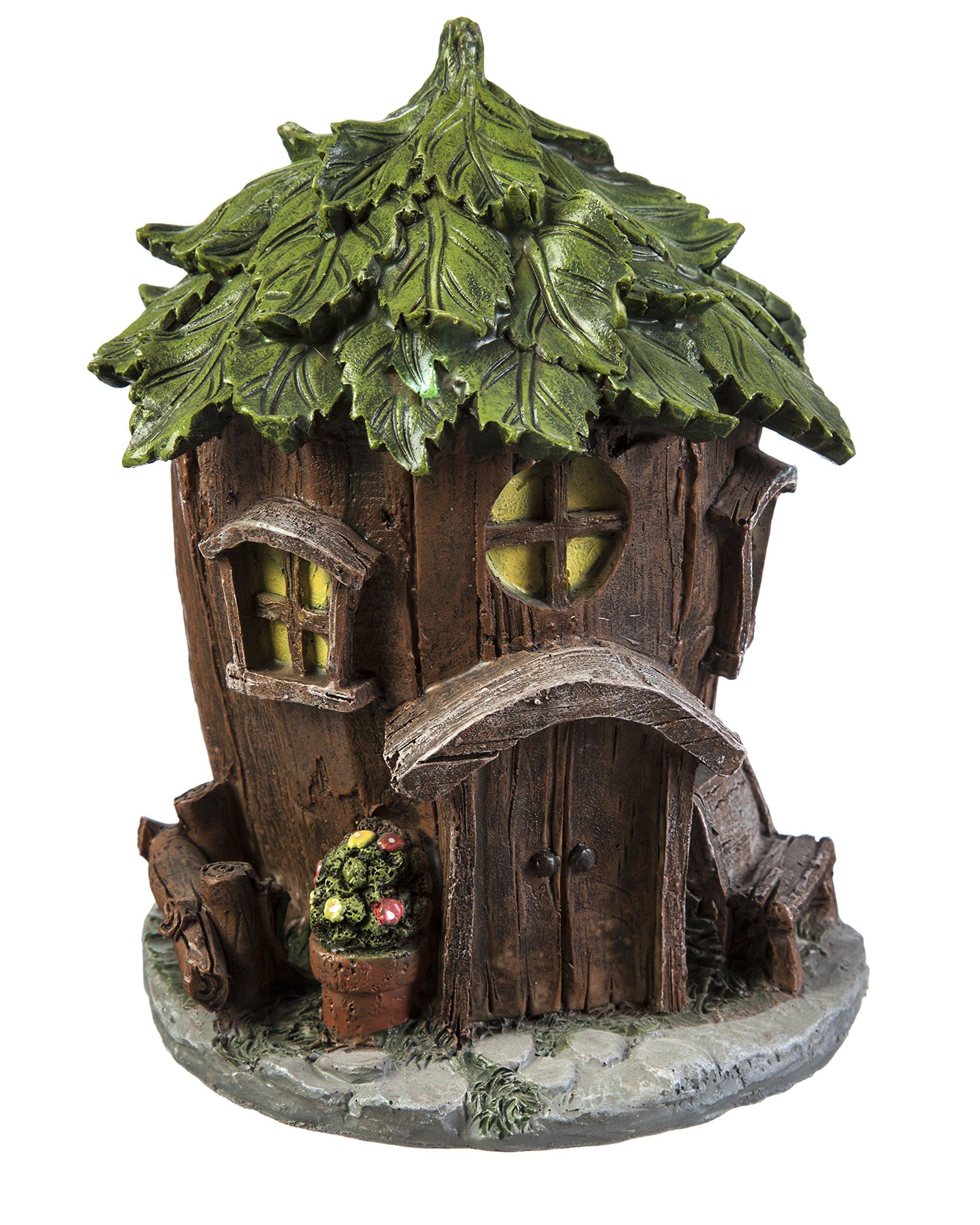 Evergreen Garden New Creative Outdoor-Safe Mini Garden Polystone Fairy Houses, Set of 4-5.5'' W x 5.75'' D x 6.75'' H by New Creative (Image #1)