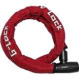 ジーロック(G-LOCK) スチールリンクロック 1200mm/レッド YGL1200/RD