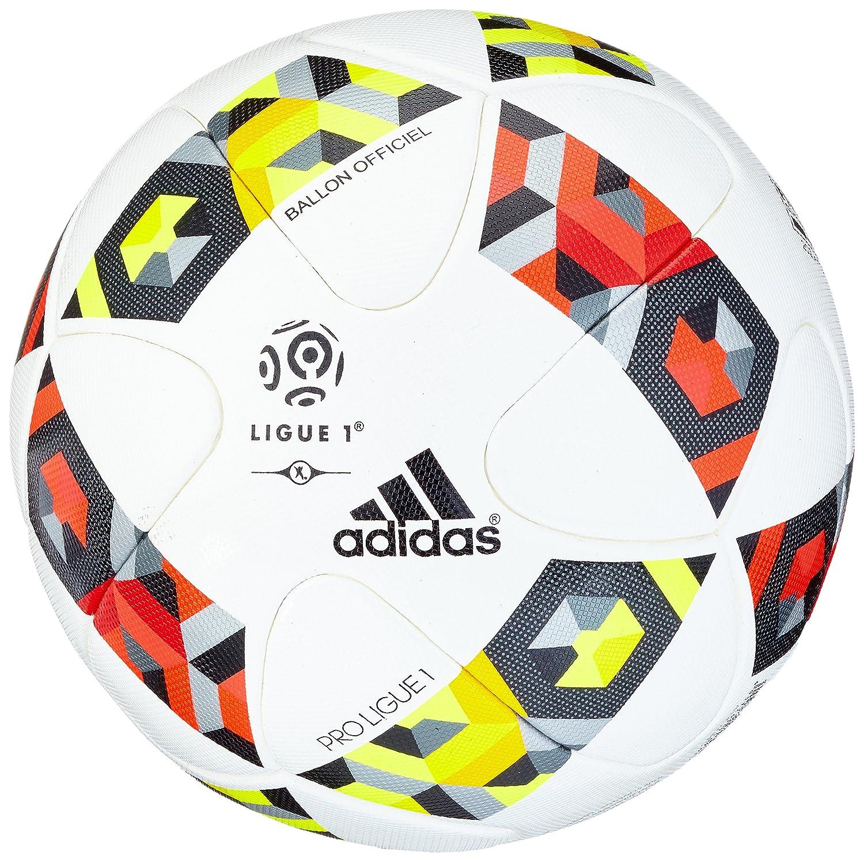 adidas Proligue1Omb Balón, Hombre, (Blanco/Rojsol/Amasol), 5 ...