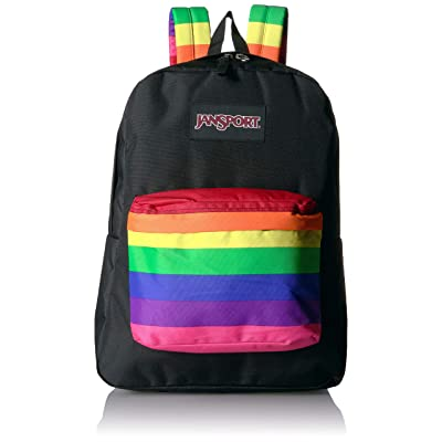 JanSport High Stakes School Backpack - Fun Pack Filled With Personality | Rainbow Dreams | Kids' Backpacks