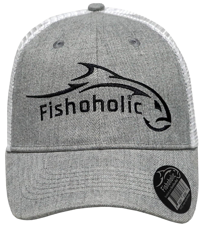 f6b176f7 Fishoholic Baseball Fishing Hat ~ 6 Colors & 3 Sizes. Angry Fish ...