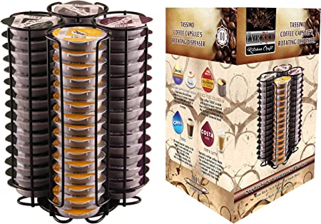 Ever Rich Tassimo Pod Holder T Disc Coffee Capsules Bosch Tassimo Stand Pod Storage Drawer Anti Vibration Design Black 60 Stand Amazon Co Uk Kitchen Home