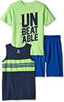 The Children's Place Big Boys' 3-Piece Tops and Shorts Set