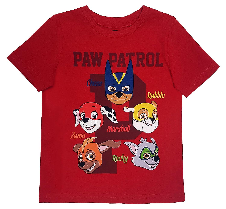 Paw Patrol - Toddler Boy's Team P T-Shirt, Red Red (2T) NTD Apparel
