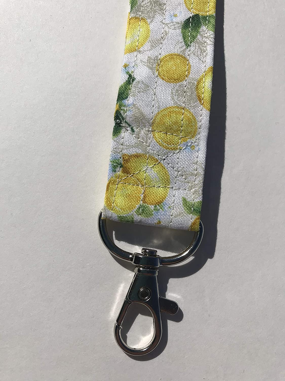 Yellow Bees Lanyard ID Badge Key Holder Keeper Fabric Yellow