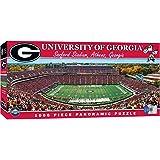 MasterPieces Collegiate Georgia Bulldogs 1000 Piece Stadium Panoramic Jigsaw Puzzle