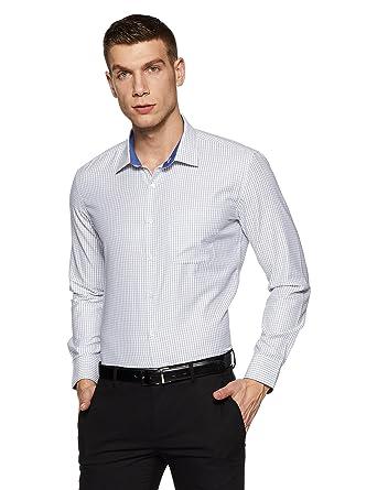 Amazon Brand - Symbol Men's Checkered Slim Fit Formal Shirt Formal Shirts at amazon