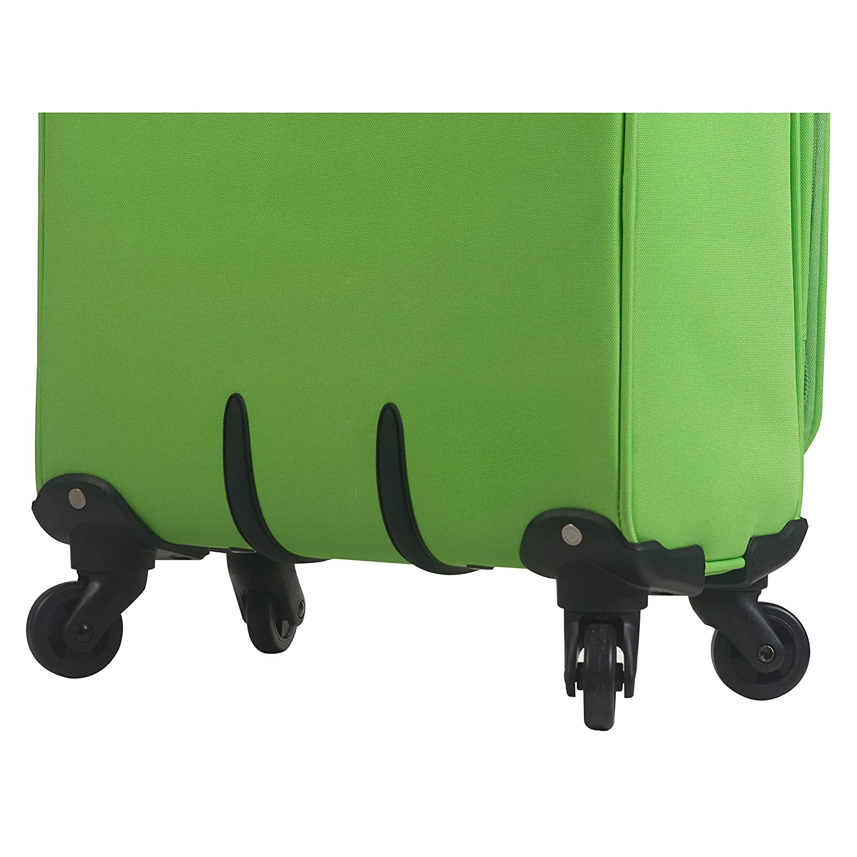 Mia Toro Italy Civetta Softside Spinner Luggage 3 Piece Set Green