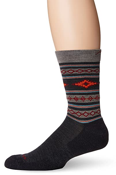 4aabe899e43d Amazon.com: Darn Tough Santa Fe Crew Light Cushion Socks - Men's Charcoal  Large: Sports & Outdoors