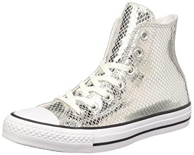 Converse Chuck Taylor All Star High Top Women's Shoes Silver/Black/White  555965c (