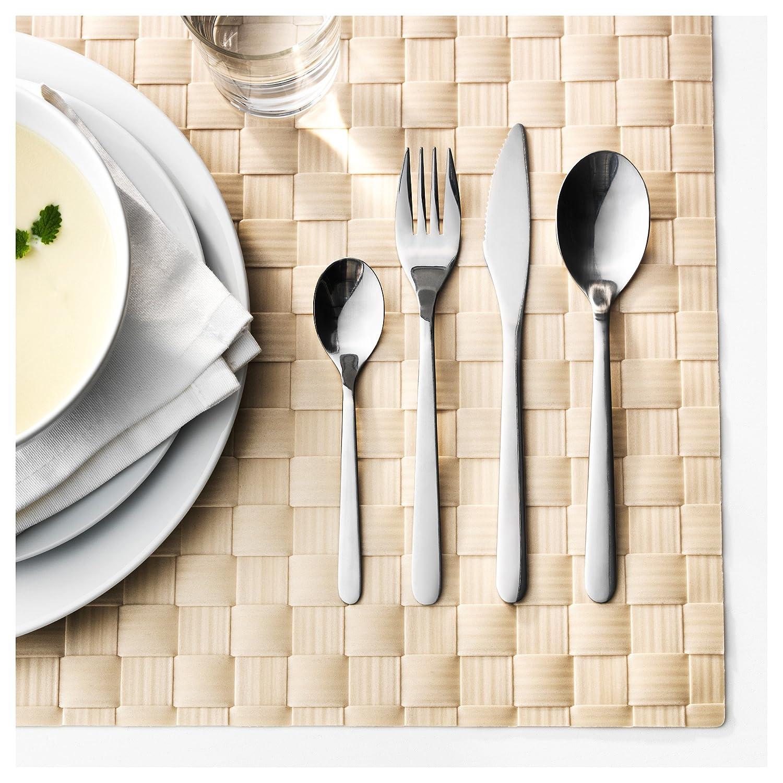 Ikea Cubertería, Acero Inoxidable, Plata, 22x14x4 cm, 24 Unidades: Amazon.es: Hogar