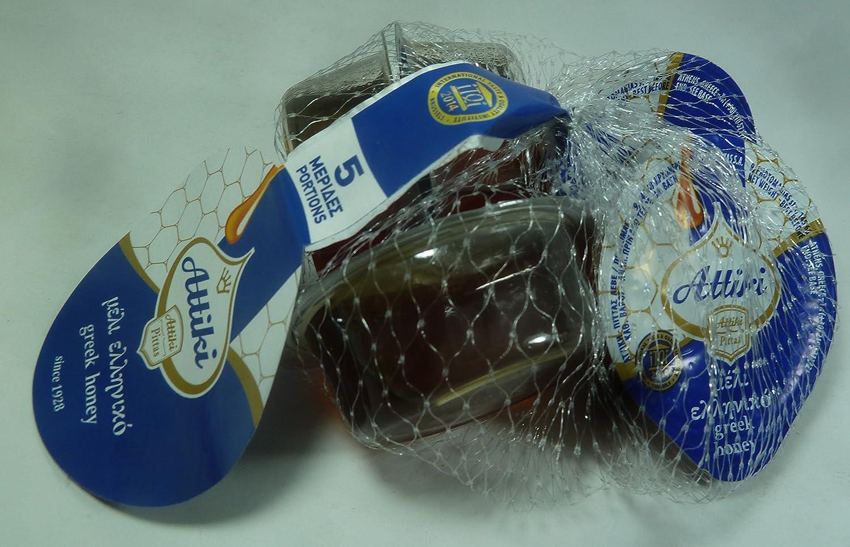 Amazon.com : Attiki, Greek Honey 100% 5 x 30g Portions Single Serving Packages, Premium Quality, Fresh : Grocery & Gourmet Food