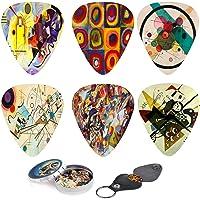 Juego de púas para guitarra de arte abstracto – Cuadros de Kandinsky – 12 púas de guitarra personalizadas con caja para…