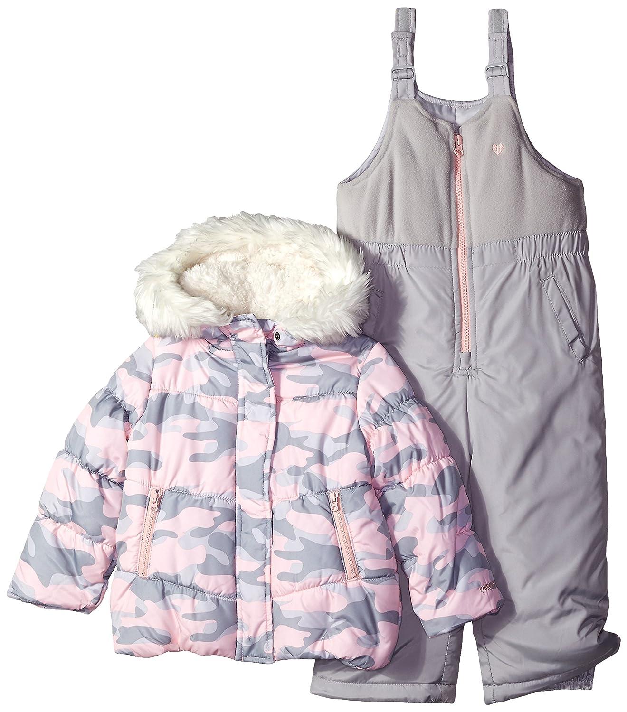 OshKosh Girls Printed Heavey Weight Winter Coat and Snow Pants Osh Kosh