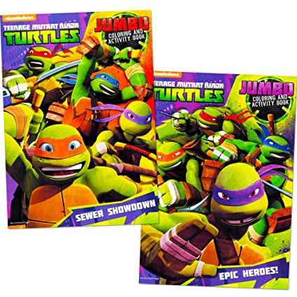 Teenage mutant ninja turtles coloring book set 2 tmnt books
