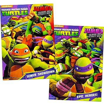 teenage mutant ninja turtles coloring book set 2 tmnt books