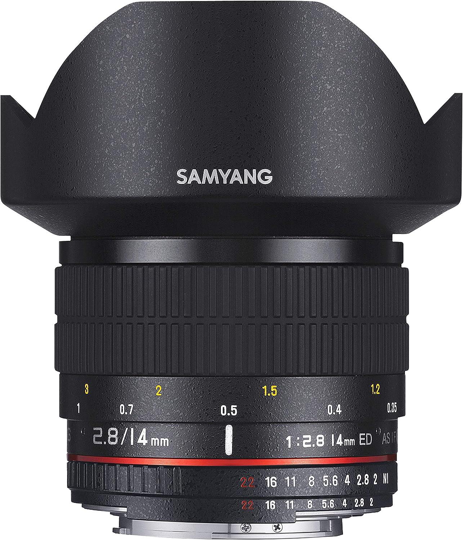 Samyang F1110601101 AE - Objectivo para Canon, (14 mm IF ED UMC ...