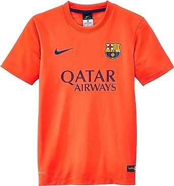 NIKE FC Barcelona Away Supporters - Camiseta de fútbol, Color Gris, Talla L: Amazon.es: Ropa y accesorios