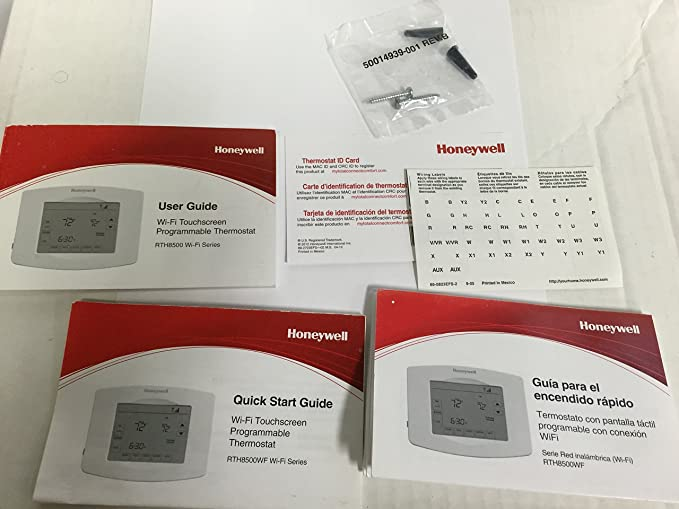 Honeywell Home Rth8580wf1007/w 7-Day Wi-Fi Programmable Touchscreen Thermostat, White - - Amazon.com