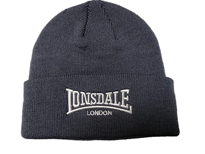 Lonsdale Men´s Beanie Embrioded Logo Pull Down Hat (Grey) at Amazon ... dcabba4a8d65