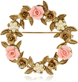 Amazoncom 1928 Jewelry Porcelain Rose GoldTone and Pink Stud