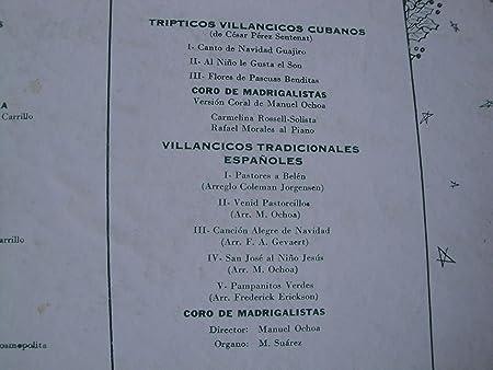 FERNANDO ALBUERNE - Canciones De Navidad Fernando Albuerne Orq. Casino De Sevilla y Orq Cosmopolita Vinyl Lp Panart Lp 3023 Mono - Amazon.com Music