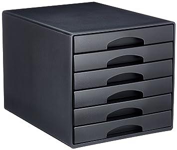 Leitz Plus 52120095 - Buc de cajones, A4, 6 cajones, Negro, Plástico