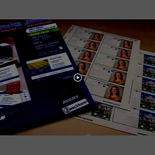 Avery 250 Cartes De Visite A Bords Microperforees 185g